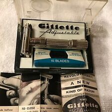 "VINTAGE ""1958"" GILLETTE ADJUSTABLE ""FAT BOY"" D-4 RARE FIRST YEAR PRODUCTION"