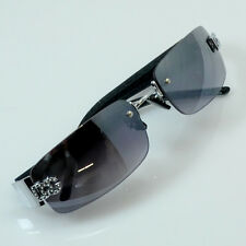 Men Women DG Eyewear Sunglass Designer Rimless Shades Small Tint BK SIL New 8009