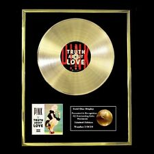 PINK THE TRUTH ABOUT LOVE CD GOLD DISC FREE P+P!