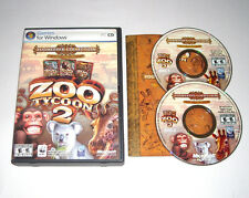 Zoo Tycoon 2 Zookeeper Collection PC CD-ROM Game 2006 Complete 2 Discs Rare