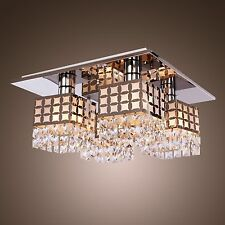 Elegant Modern 4 lights Crystal Ceiling Chandelier Pendant Fixture Lighting Lamp