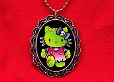 HELLO ZOMBIE KITTY CAT MONSTER PENDANT NECKLACE KAWAII