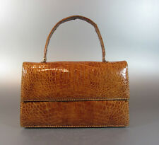 Vintage Alligator Purse Handbags 60's GENUINE ALLIGATOR CROCODILE CROC