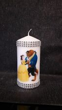 personalised  Disney Beauty and the Beast candle