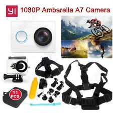 White Wifi Xiaomi Yi Action Camera 1080P 16MP+11 in1 Spare Kit+Waterproof Case