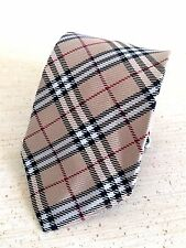 Auth Burberry London Haymarket Nova Classic Check Plaid Men's Neck Tie - ENGLAND