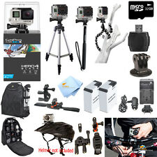 GoPro Hero4 Black Edition ATV/Bike/Helmet Mount PRO Accessory Bundle! Brand New