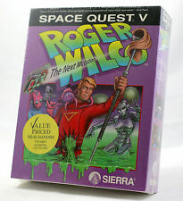 "Vintage Sierra Space Quest 5 SQ5 MS-DOS Sealed MINT Big Box 3.5"" PC NEW RARE!"