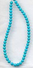 "SLEEPING BEAUTY TURQUOISE ROUND BEADS - 7.75"" STRAND"