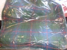 """Williams Sonoma  Green  Tartan pillow cover  Holiday 22""""  New"""