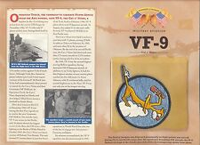 USN Navy VF-9 Fighter Squadron CAT O' NINES patch & board set