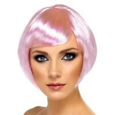 Ladies Fancy Dress Bob Wig Babe Pink Hen Party Brand New #42053 New by Smiffys.