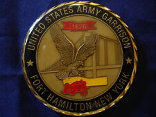 NY Fort Hamilton Coin Excellence Command US Army USA Made New Stand