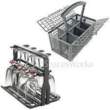 Universal Dishwasher Delicate Wine Stem Glass Rack Holder & Cutlery Basket