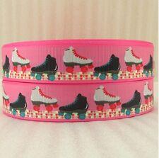 """BTY 1"""" Girls Roller Skates Pink Grosgrain Ribbon Hair Bows Lanyards Lisa"""