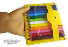 """18"""" Doll Sized Colored Pencils School Supplies works for American Girl"""