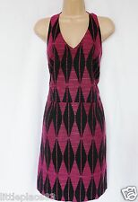 NEXT BNWT black & pink halter neck shift dress RRP55 wedding party ocassion 14
