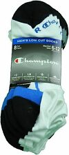 Champion Men's Size 6-12 Double Dry Ventilation Arch Support Low Cut Socks White
