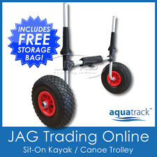 AQUATRACK SIT-ON KAYAK TROLLEY - Collapsable Alloy Canoe/Ski Carrier Cart 100kg