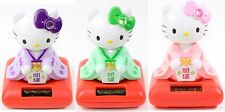 3 Set Cute Hello Kitty in Kimono Solar Toy Lucky Home Decor Gift US Seller