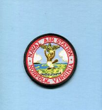NAS NAVAL AIR STATION NORFOLK VA US Navy Base Squadron Hat Jacket Patch 3""