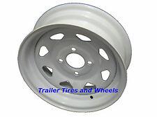 """13"""" 4 Lug White Spoke Steel Trailer Wheel Dexstar boat jet ski camper rv utility"""