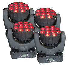 4X New Pro 12x10W CREE RGBW (4in1) LED Beam and Wash Moving Head stage Lighting