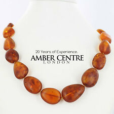 Genuine Baltic Amber Bead Necklace Matte Finish 45 grams - A0204- RRP£550