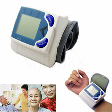 Digital Wrist Blood Pressure Automatic LCD Monitor Machine Heart Pulse Tester