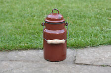 Vintage enamel milk churn can milkchurn milk pot with lid  - 1L  - FREE POSTAGE