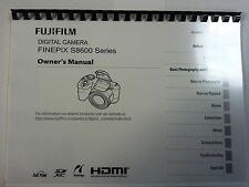 FUJIFILM S8600 PRINTED INSTRUCTION MANUAL USER GUIDE 131 PAGES A5