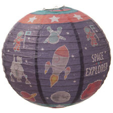 Space Rockets Childrens Kids Round Paper Decorative Lamp Lantern Light Shade