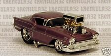 '58 CHEVY IMPALA 1958 PURPLE HOT ROD RUBBER WHEELS 1:64 DIECAST MUSCLE MACHINES