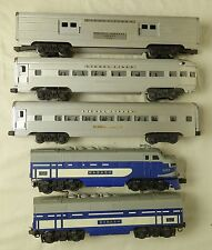 LIONEL POST-WAR #2244W ORIGINAL WABASH A/B DIESEL PASSENGER SET-VG IN BOX!