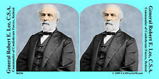 General Robert E. Lee Confederate Civil War SV Stereoview Stereocard 3D 06236