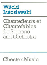 Witold Lutoslawski Chantefleurs Et Chantefables Score Sing Choral Music Book