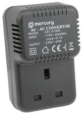 PLUG IN MAINS STEP-UP VOLTAGE CONVERTER 110V - 220V AC USA/UK ADAPTOR 651.010