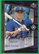 MARK TEIXEIRA ~AUTOGRAPH ROOKIE~ 2001 Ultimate Collection AUTO Rangers 236/250