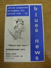 27/03/1967 Birmingham City v Hull City  (folded). Thanks for viewing this item,