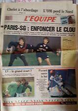 L'Equipe Journal 26-27/11/1988; L'OM perd le nord/ PSG/ Cholet/ Raphanel en F1