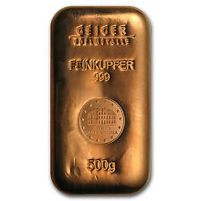 500 gram Copper Bar - Geiger (Security Line Series) - SKU #87444