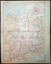 1894 impression antique carte en couleurs de Ille-et-Vilaine Rennes France carte française