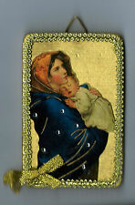2-MARY MADONNA of the STREETS Icon 4 Inch Ornaments or Wall Plaques NEW JESUS
