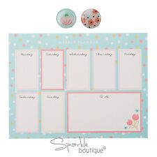 WEEKLY Planner Blocco note & MAGNETI-Meal pianificazione Pad/Double Up come Tappetino Mouse/Regalo