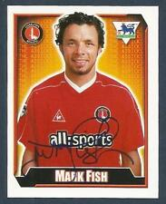 MERLIN 2003-FA PREMIER LEAGUE-BLACK BACKS- #150-CHARLTON/SOUTH AFRICA-MARK FISH