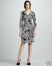 DVF Diane von Furstenberg New Julian Two Vintage silk wrap dress Swirl black 0