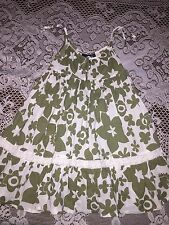 Girls Clothes Mini Boden Sleeveless Flower Summer Twirl Dress Size 2-3Y