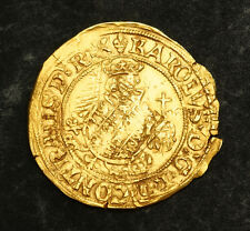 1521, Spanish Netherlands, Flanders, Charles V. Gold Florin (Carolus d'Or) Coin.