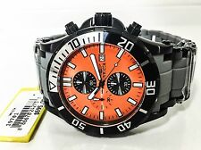 Men's Invicta 19781 50mm Sea Spider Black Orange Dial Quartz Chrono Watch New