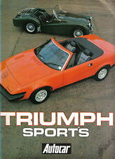 Triumph Sports 1924-1980 Southern Cross 7 Gloria Dolomite TRs GT6 Spitfire Stag